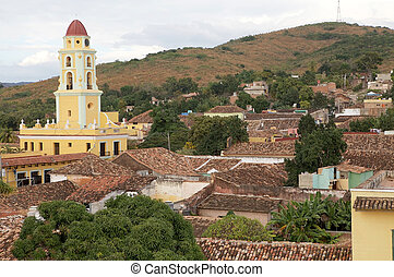 Trinidad Cuba - Trinidad town view with the San Francisco...