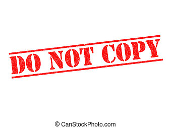 DO NOT COPY red Rubber Stamp over a white background