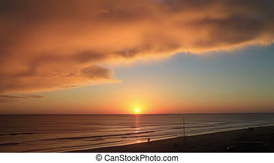 Sunrise time lapse two Daytona Fl - Sunrise time lapse two...
