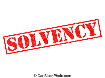 SOLVENCY red Rubber Stamp over a white background