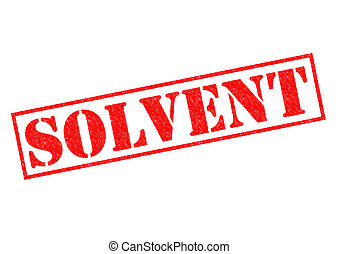 SOLVENT red Rubber Stamp over a white background.