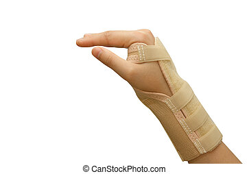 Trauma of wrist with brace ,wrist support