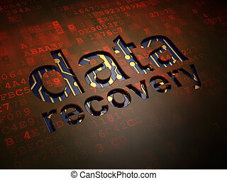 Information concept: Data Recovery on digital screen...