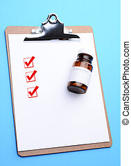 Clip Board with Prescription Bottle and Check Boxes - high...