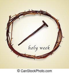 santo, semana