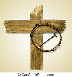 Holy Cross, crown of thorns and nail