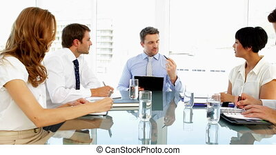 Business people working together during meeting in the...