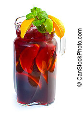 Fruit punch in pitcher