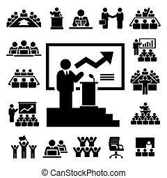 Business and Management Icons set, Illustration eps10