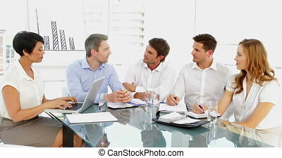 Business team discussing during meeting in the office