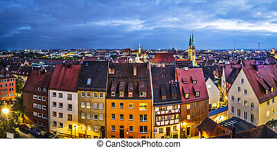 Nuremberg, Germany old city buidings.