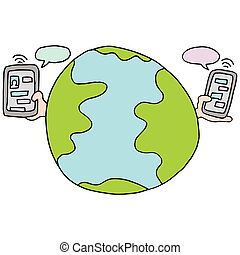Global Text Messaging Service - An image of a global text...