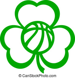 Basketball Three Leaf Clover for St - For St. Patrick%u2019s...