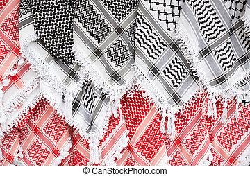 Arabic scarf, keffiyeh background - Arabic scarf, keffiyeh...