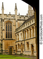 Oxford College - College building, Oxford, England, UK