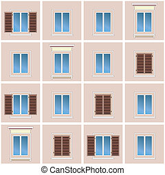 Classic building facade - Seamless background of the classic...