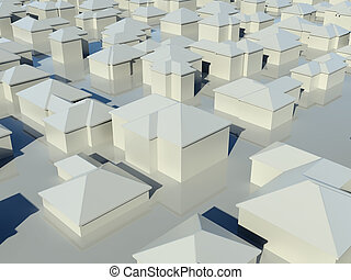 group of houses - Aerial view of group of houses