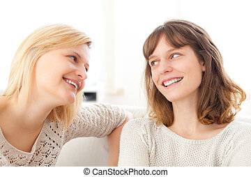 Complicity scene beetwen two girls best friends - Friendship...