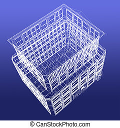 wireframe building