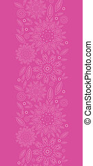 Pink abstract flowers texture vertical seamless pattern background
