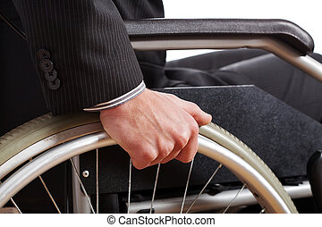 Independent diabled man - Independent man wearing suit on a...