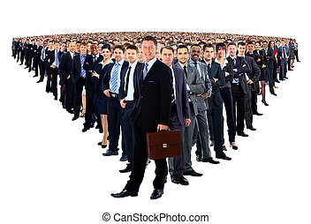 Large group of businesspeople - Large group of...