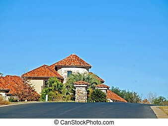 Upscale Suburban Neighborhood - Houses in an affluent...