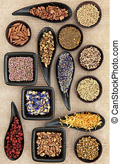Naturopathic Herbs - Herbal medicine selection also used in...