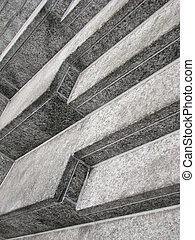Angular view of stairs - Angular view of concrete stairs