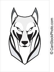 lobo, coyote, fornido, zorro