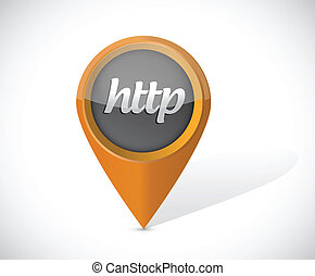 http pointer icon illustration design over a white...