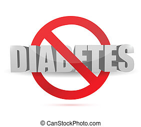no diabetes sign illustration design over a white background