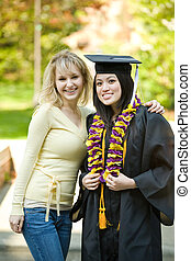 Graduation girl - A happy beautiful graduation girl being...