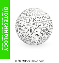 BIOTECHNOLOGY Background concept wordcloud illustration...