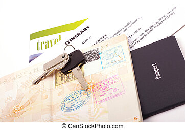 holiday travel documents - passport and holiday documents...