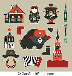 russo, ícones