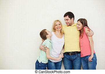 Parents and kids - Portrait of affectionate family of four...