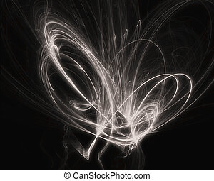 Abstract Swirled Background - A swirl of spark on a black...