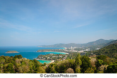 karon view point - westcoast of phuket scenery from karon...