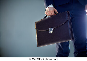 Diplomacy - Isolated image of a businessman carrying a...