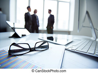 Business objects - Technological devices, eyeglasses and...
