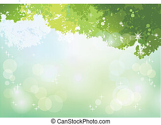Spring Green background with soft sunlight File contains...