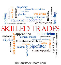Skilled Trades Word Cloud Concept with great terms such as...