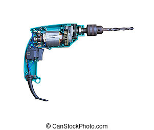 Electric drill inside