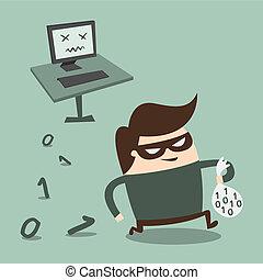 Hacker - hacker, eps 10 vector illustration