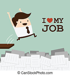 Love job - Happy businessman