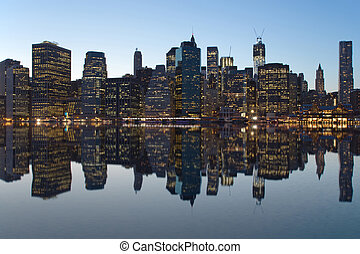 Reflection of Lower Manhattan - Lower Manhattan. Reflection....