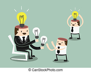 Share Ideas. vector illustration