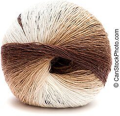 ball of knitting yarn - new ball of knitting yarn isolated...