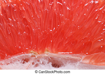 Texture of red grapefruit pulp horizontal - Texture of red...